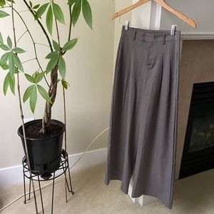 OAK AND FORT Gray High Rise Wide Leg Culottes